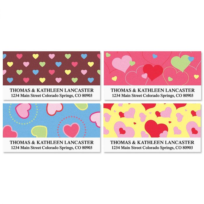 Hearts Deluxe Address Labels  (4 designs)