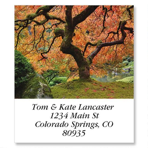 Japanese Maple Select Return Address Labels