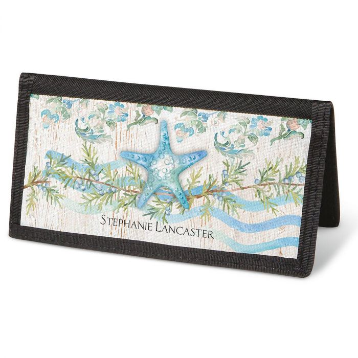 Ocean Tide Checkbook Cover - Personalized