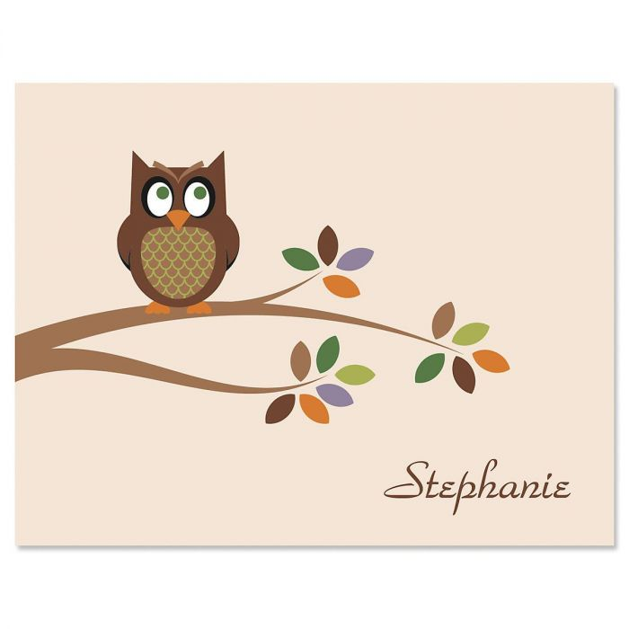 Owl  Custom  Note Cards
