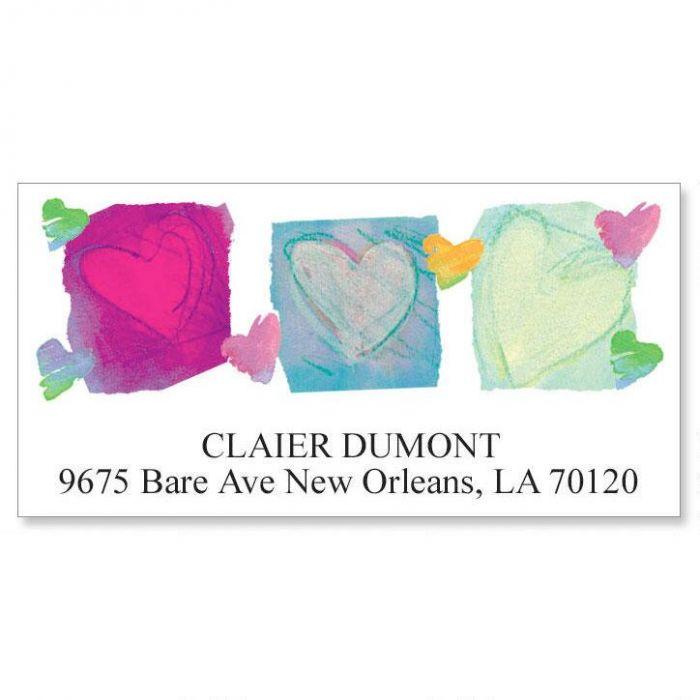 Paper Hearts Deluxe Return Address Labels