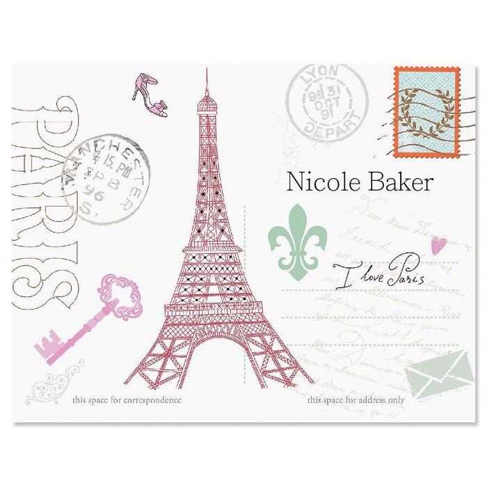 Paris Custom Note Cards