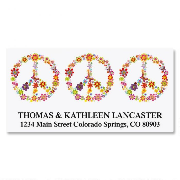 Peace Sign Deluxe Address Labels