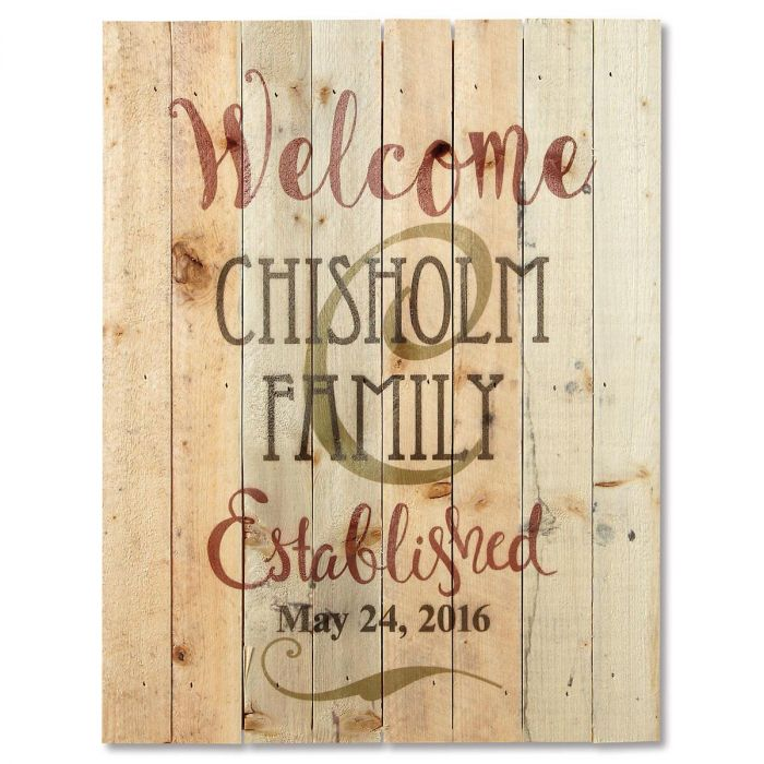 Personalized Established Lath Wood Sign
