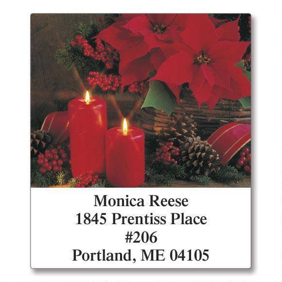 Photo Floral Select Return Address Labels