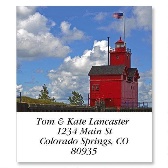 Red Lighthouse Select Return Address Labels