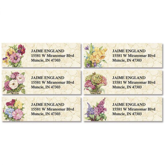 Sandi's Heirloom Bouquets Classic Return Address Labels  (6 Designs)