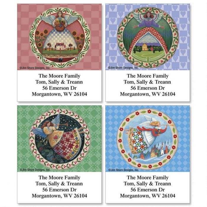 Seasonal Angels by Jim Shore Select Return Address Labels  (4 Designs)