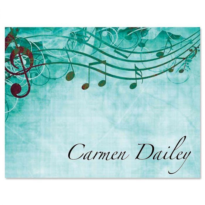 Sheet Music Custom Note Cards