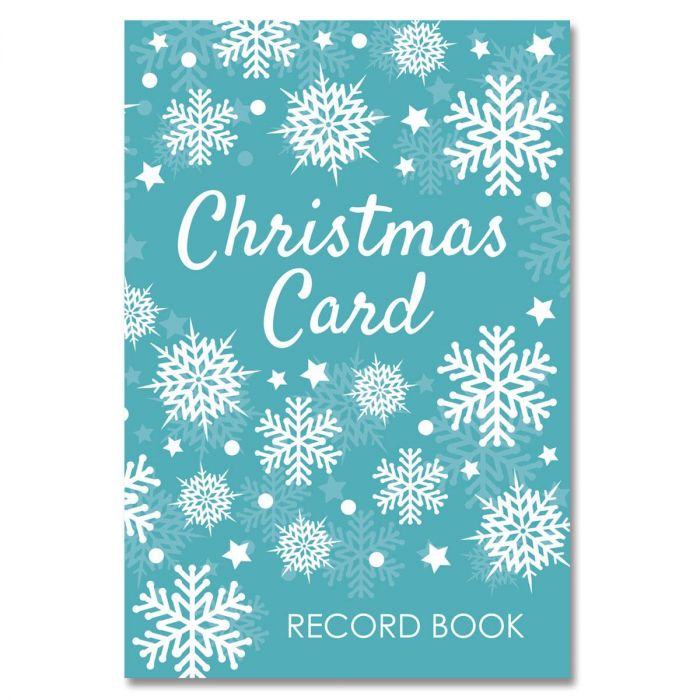 Snowflakes Christmas Card Record Book