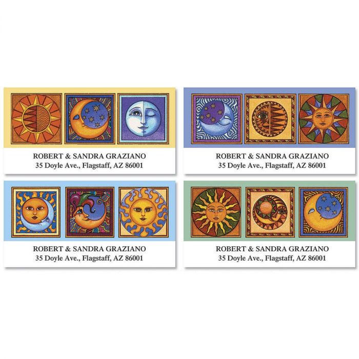Sun & Moon Deluxe Return Address Labels  (4 Designs)