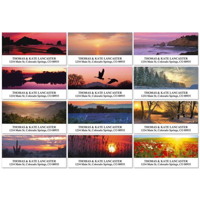 Sunrise In America Deluxe Return Address Labels  (12 Designs)