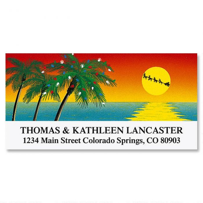 Tropical Holiday Deluxe Return Address Labels