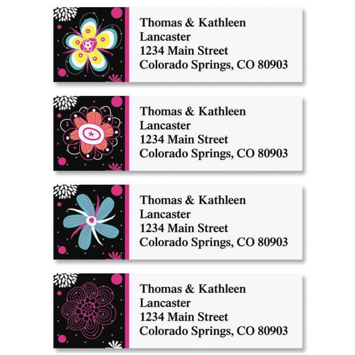 Vibrant Classic Return Address Labels  (4 Designs)