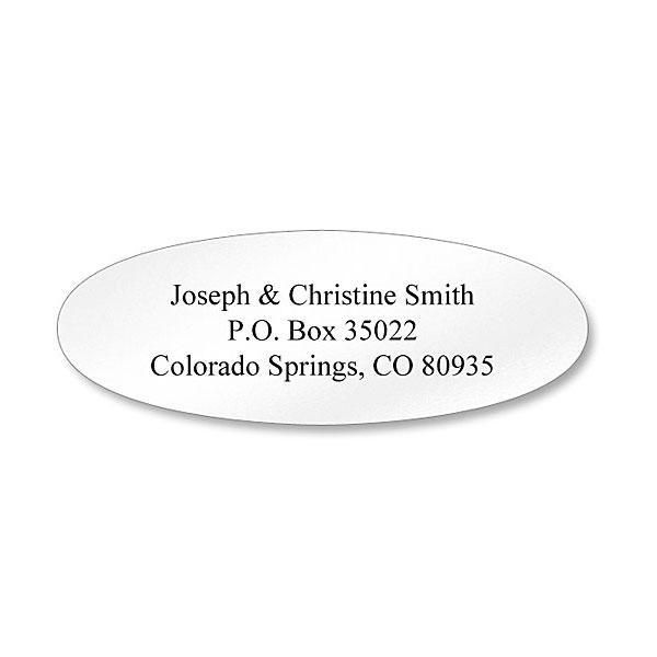 Oval Address Labels-White-C77