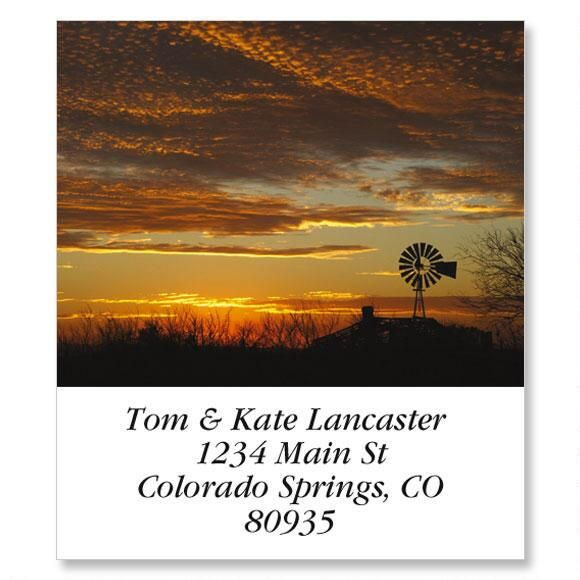 Windmill At Sunset Select Return Address Labels