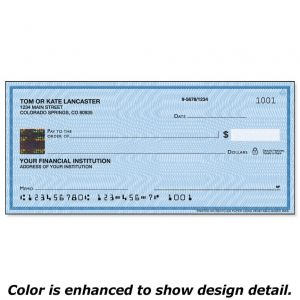 Securiguard Security Blue Hologram Premium Personal Checks