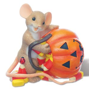 Candy Corn With Pumpkin Mouse by Charming Tails®