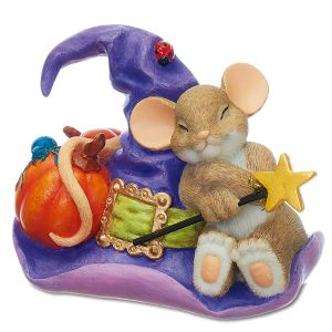 Mouse on Witch's Hat by Charming Tails®
