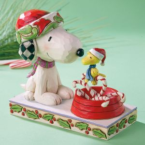 Snoopy™ and Woodstock Candy Cane Christmas by Jim Shore