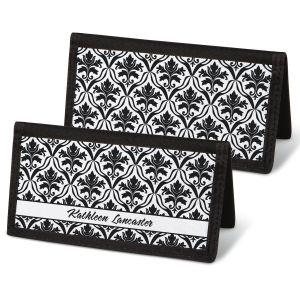Elegant in Black Personal Checkbook Covers
