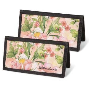 Watercolor Garden Personal Checkbook Covers