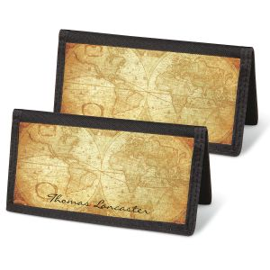 Old World Personal Checkbook Covers