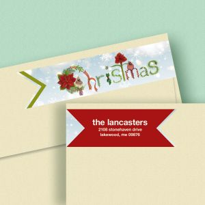 Words of the Season Connect Wrap Diecut Address Labels (4 Designs)