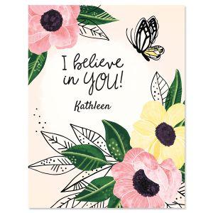 I Believe In You Custom Note Cards