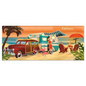 Coastal Camping Slimline Custom Note Cards