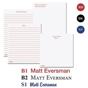 Personalized  Memo Pad Assortment