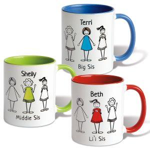 Personalized Sister Mugs
