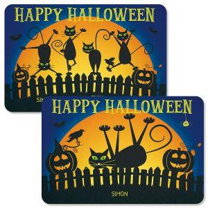 Cat Silhouettes Personalized Halloween Doormats