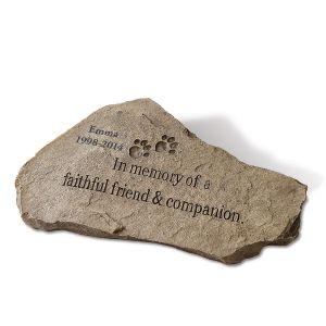 Personalized Pet Memorial Garden Stone