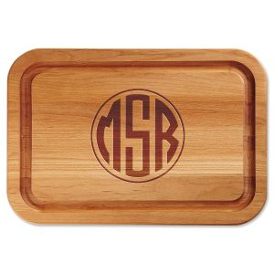 Personalized Monogram Custom Wood Cutting Board