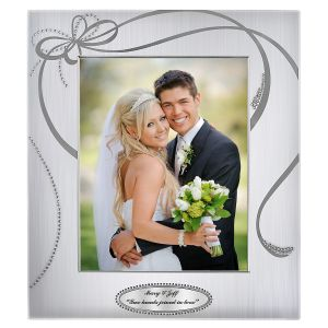 Personalized Crystal Ribbons Picture Frame