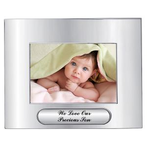 Personalized Silver-Plated Picture Frame