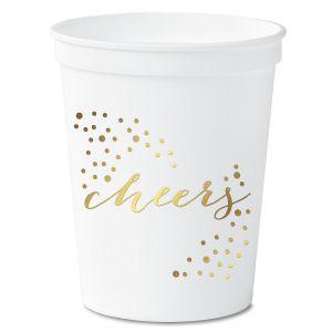 Cheers White Stadium Cups