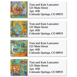 At The Beach Classic Address Labels  (4 Designs)