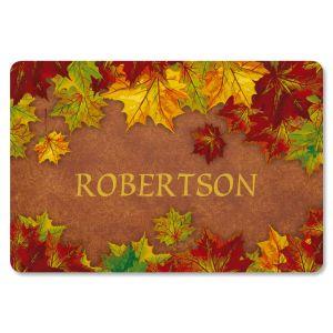 Autumn Colors Personalized Doormat