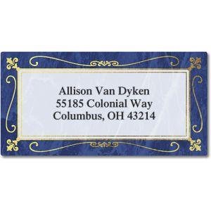 Imperial  Foil Border Return Address Labels