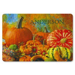 Beautiful Pumpkins Personalized Doormat