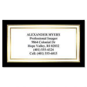Black & Gold Foil Business Cards