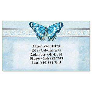 Blue Beauty  Foil Business Cards