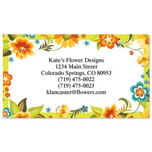 Bold Floral  Business Cards