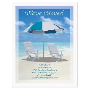 Calm Seas We've Moved Postcards