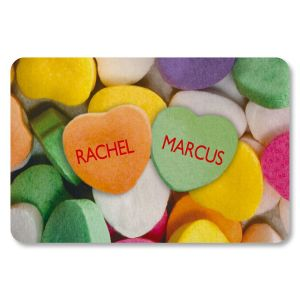 Candy Heart Personalized Doormat