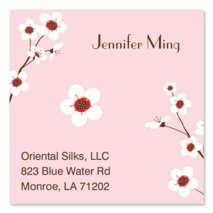 Cherry Blossom Square Business Cards