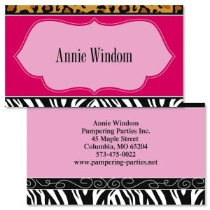 Chic Print Double-Sided Business Cards