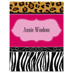 Chic Print Personalized Note Cards